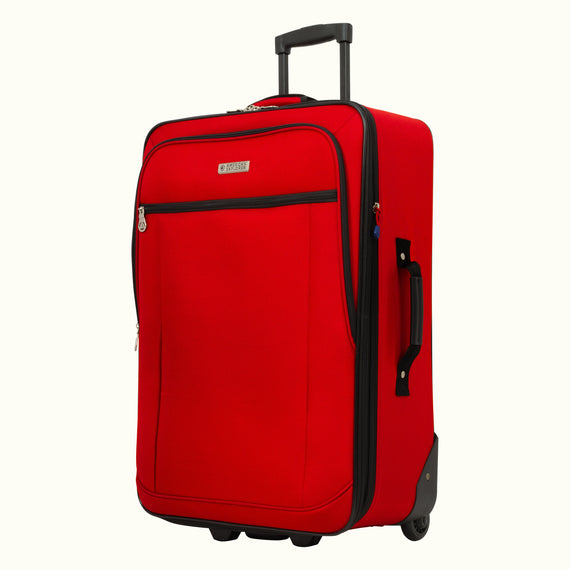 4-Piece Luggage Set Skyway Luggage Hudson 4-Piece Luggage Set in True Red in  in Color:True Red in  in Description:Angled View