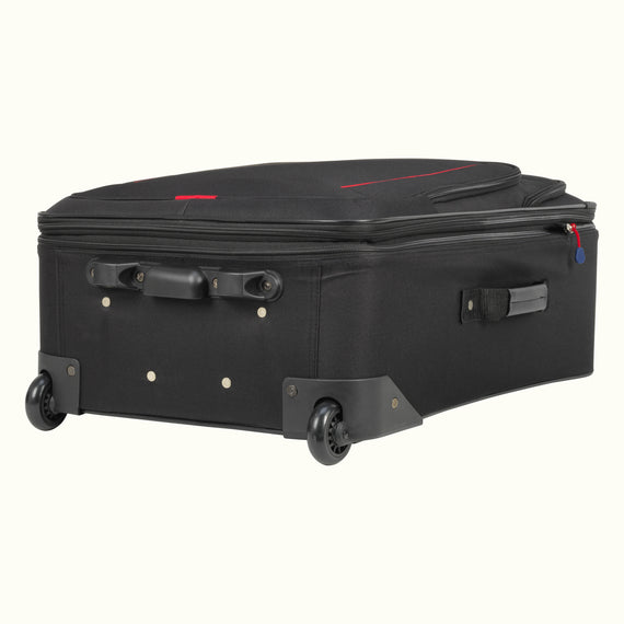 4-Piece Luggage Set Skyway Luggage Columbus 4-Piece Luggage Set in Black in  in Color:Black in  in Description:Bottom