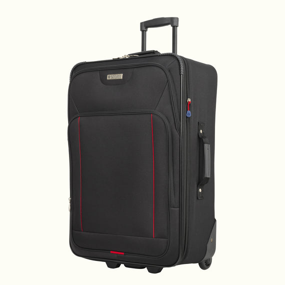 4-Piece Luggage Set Skyway Luggage Columbus 4-Piece Luggage Set in Black in  in Color:Black in  in Description:Angled View