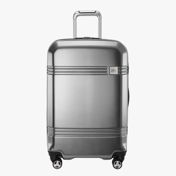 Medium Check-In Glacier Bay 25-inch Medium Check-In in Silver Front View in  in Color:Silver in  in Description:Front