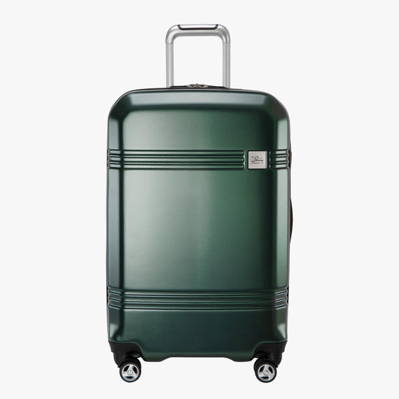 Medium Check-In Glacier Bay 25-inch Medium Check-In in Green Front View in  in Color:Green in  in Description:Front