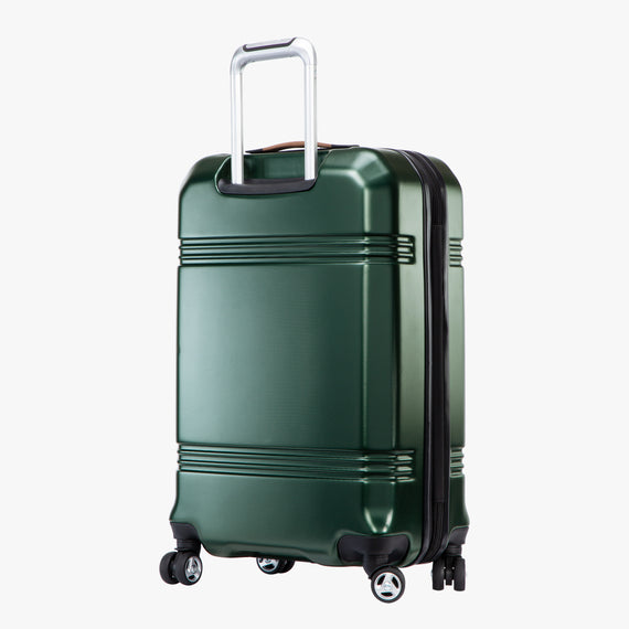 Medium Check-In Glacier Bay 25-inch Medium Check-In in Green Back Angle View in  in Color:Green in  in Description:Back Angle