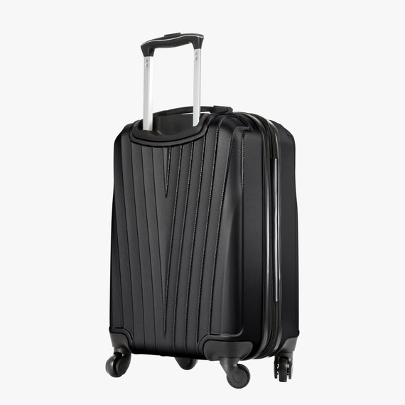 Carry-On Epic Hardside Carry-On in Black Back Angle View in  in Color:Black in  in Description:Back Angle