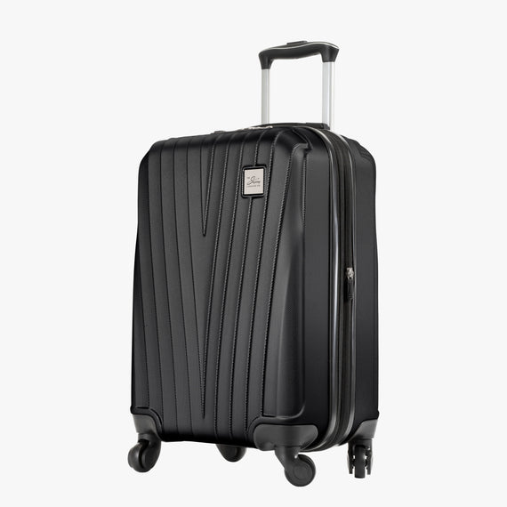 Carry-On Epic Hardside Carry-On in Black Angled View in  in Color:Black in  in Description:Angled View