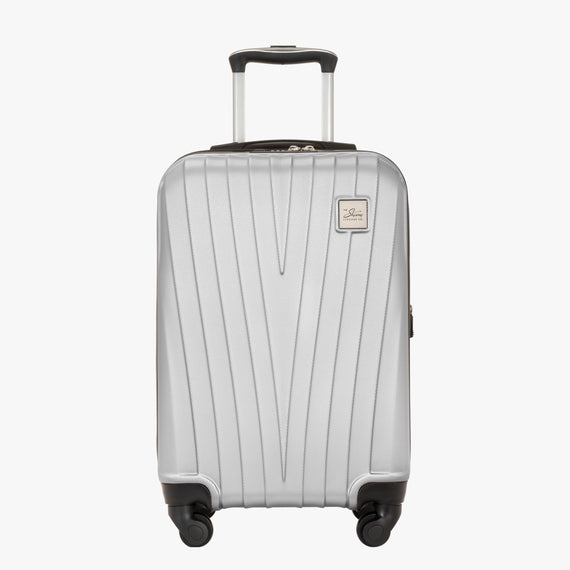 Carry-On Epic Hardside Carry-On in Silver Front View in  in Color:Silver in  in Description:Front