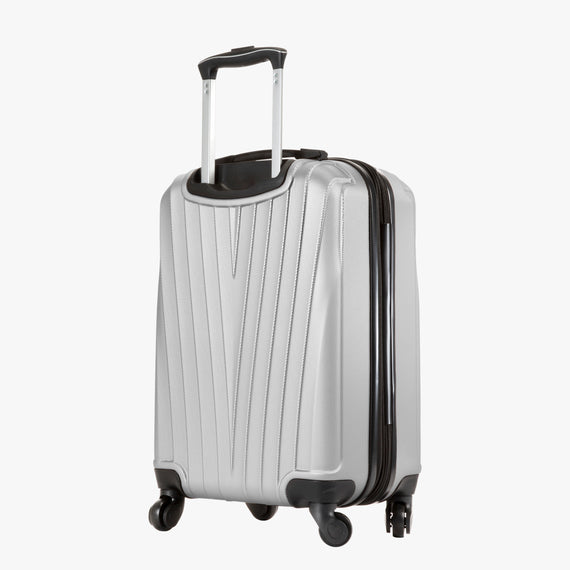 Carry-On Epic Hardside Carry-On in Silver Back Angle View in  in Color:Silver in  in Description:Back Angle
