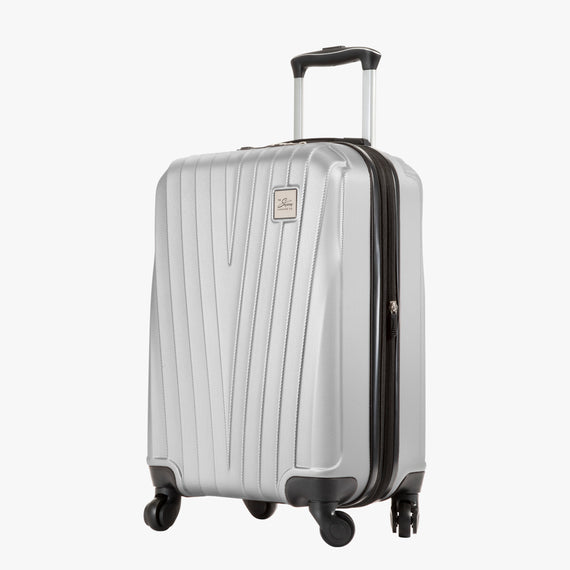 Carry-On Epic Hardside Carry-On in Silver Angled View in  in Color:Silver in  in Description:Angled View