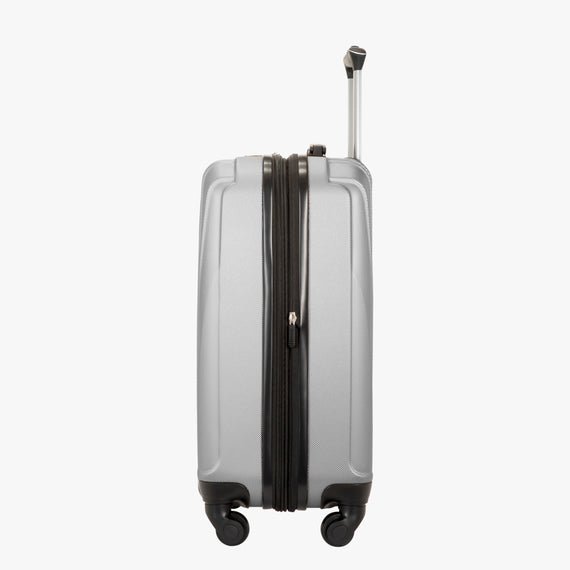 Carry-On Epic Hardside Carry-On in Silver Side View in  in Color:Silver in  in Description:Side