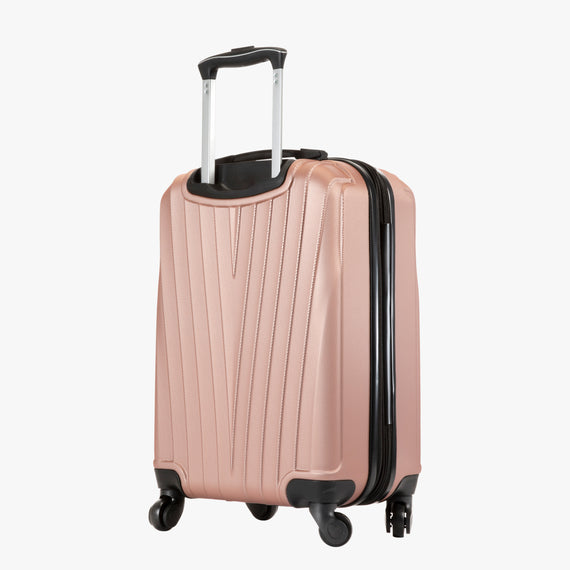 Carry-On Epic Hardside Carry-On in Rose Gold Back Angle View in  in Color:Rose Gold in  in Description:Back Angle