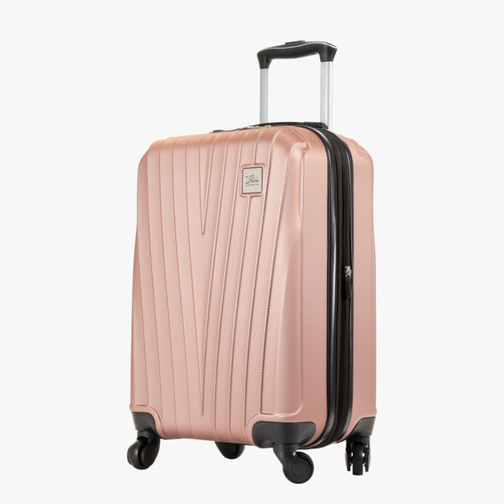 Carry-On Epic Hardside Carry-On in Rose Gold Angled View in  in Color:Rose Gold in  in Description:Angled View