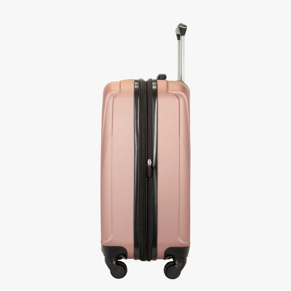 Carry-On Epic Hardside Carry-On in Rose Gold Side View in  in Color:Rose Gold in  in Description:Side