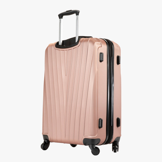 Medium Check-In Epic Hardside Medium Check-In in Rose Gold Back Angle View in  in Color:Rose Gold in  in Description:Back Angle