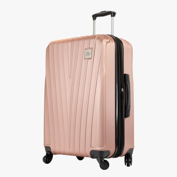Medium Check-In Epic Hardside Medium Check-In in Rose Gold Angled View in  in Color:Rose Gold in  in Description:Angled View