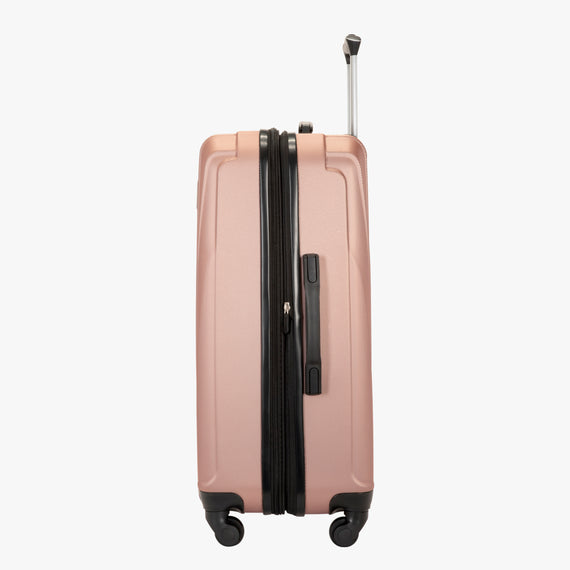 Medium Check-In Epic Hardside Medium Check-In in Rose Gold Side View in  in Color:Rose Gold in  in Description:Side