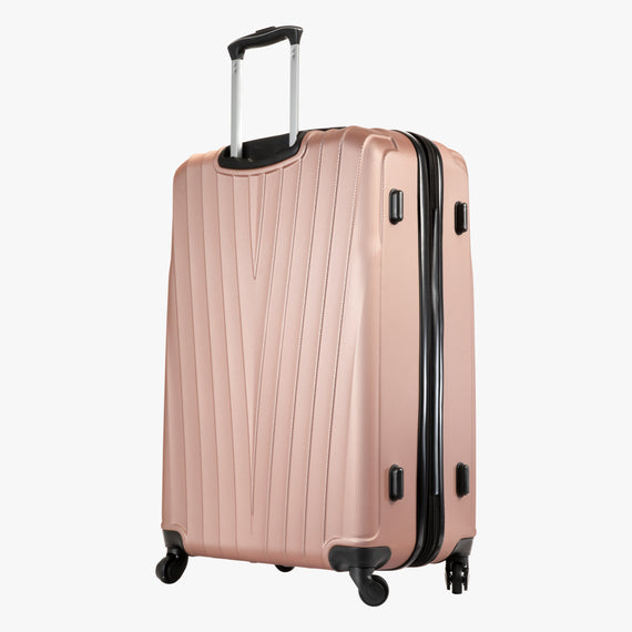 Large Check-In Epic Hardside Large Check-In in Rose Gold Back Angle View in  in Color:Rose Gold in  in Description:Back Angle