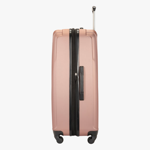 Large Check-In Epic Hardside Large Check-In in Rose Gold Side View in  in Color:Rose Gold in  in Description:Side