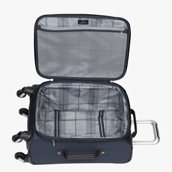 Carry-On Eastlake 20-inch Carry On in Dark Blue Open View in  in Color:Dark Blue in  in Description:Opened