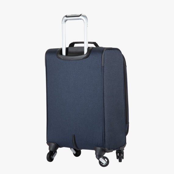 Carry-On Eastlake 20-inch Carry On in Dark Blue Back Angle View in  in Color:Dark Blue in  in Description:Back Angle