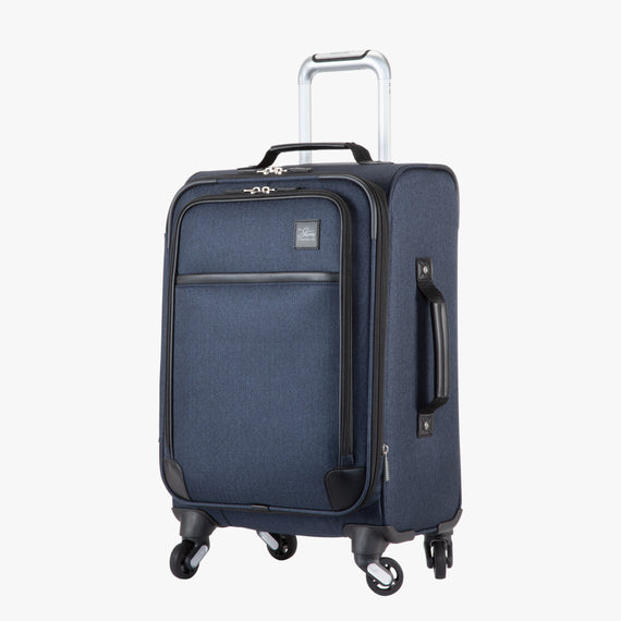 Carry-On Eastlake 20-inch Carry On in Dark Blue Quarter Front View in  in Color:Dark Blue in  in Description:Angled View