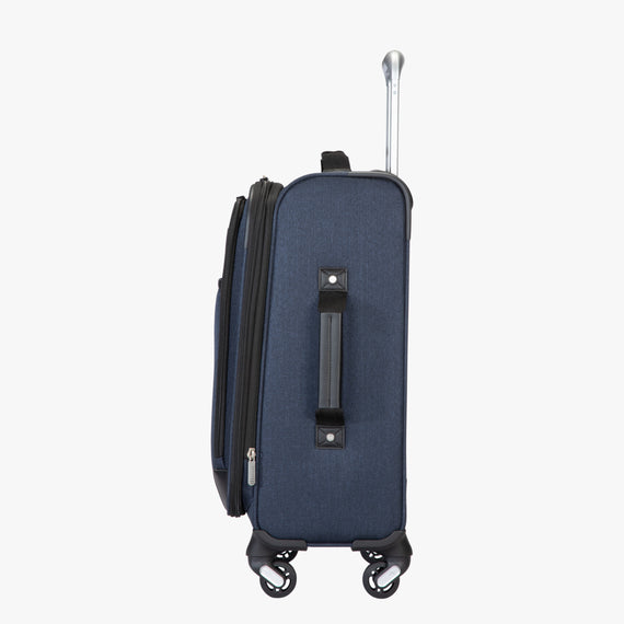 Carry-On Eastlake 20-inch Carry On in Dark Blue Side View in  in Color:Dark Blue in  in Description:Side