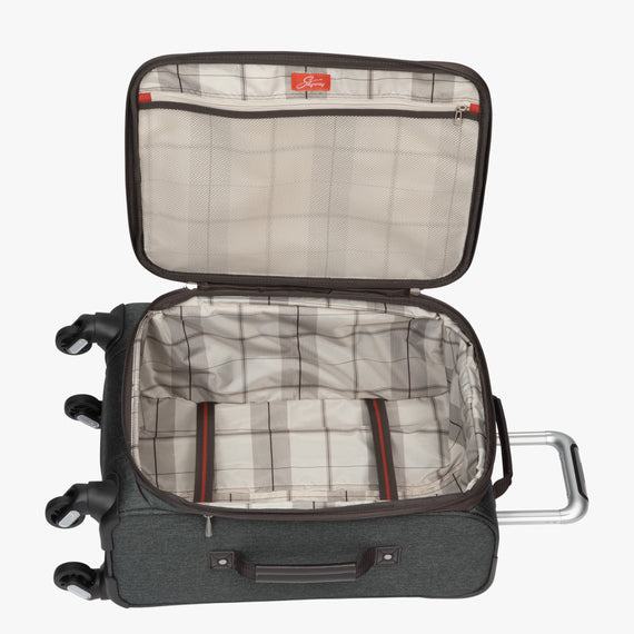 Carry-On Eastlake 20-inch Carry On in Dark Grey Open View in  in Color:Dark Grey in  in Description:Opened