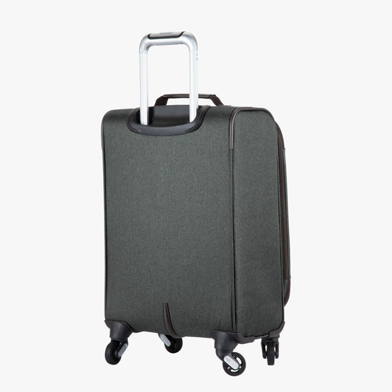 Carry-On Eastlake 20-inch Carry On in Dark Grey Back Angle View in  in Color:Dark Grey in  in Description:Back Angle