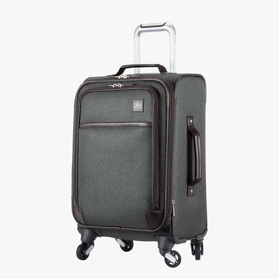 Carry-On Eastlake 20-inch Carry On in Dark Grey Quarter Front View in  in Color:Dark Grey in  in Description:Angled View