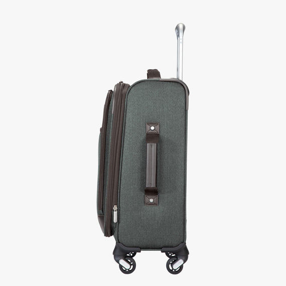 Carry-On Eastlake 20-inch Carry On in Dark Grey Side View in  in Color:Dark Grey in  in Description:Side