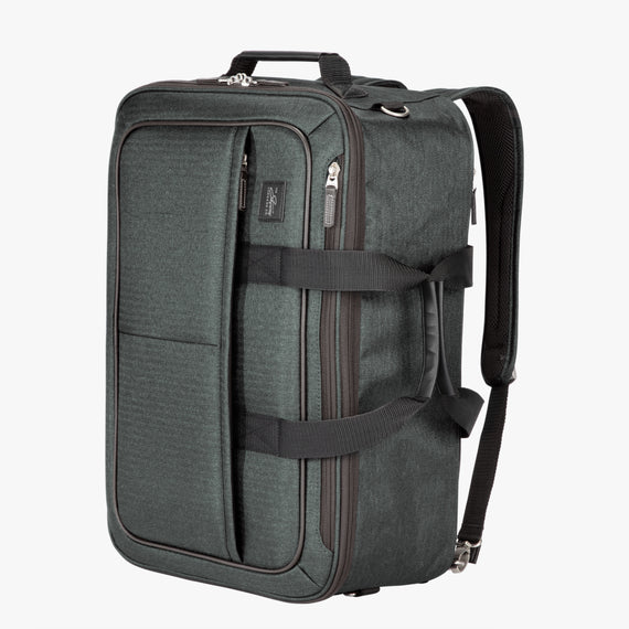 4-Way Convertible Carry-On Eastlake Four-Way Carry On in Dark Grey Quarter Front View in  in Color:Dark Grey in  in Description:Angled View