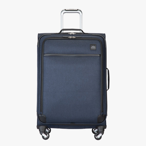 Medium Check-In Eastlake 25-inch Medium Check-in in Dark Blue Front View in  in Color:Dark Blue in  in Description:Front