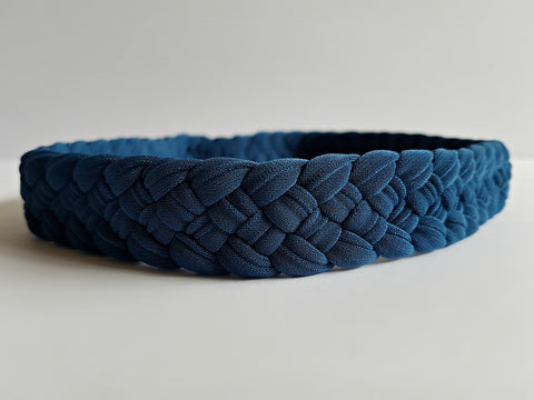 Stylish Weaved Headband in Slate Blue | Nautically Inspired