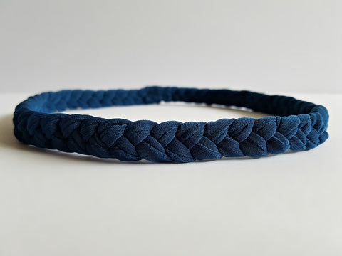 Braided Cloth Headband in Slate Blue | Nautically Inspired