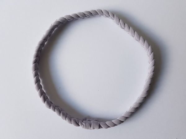 Braided Workout Headband in Grey | Nautically Inspired