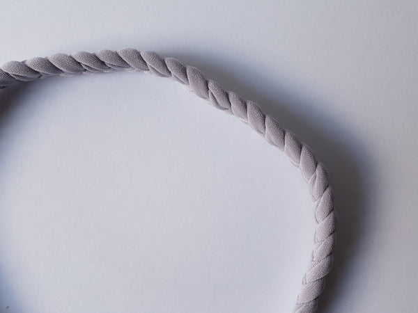 Grey Braided Headband for Women | Nautically Inspired