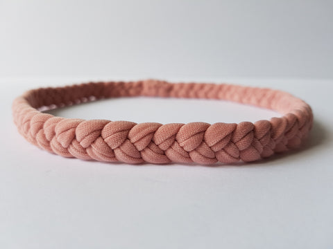 Shop Women's Braided Workout Headband in Blush | Nautically Inspired