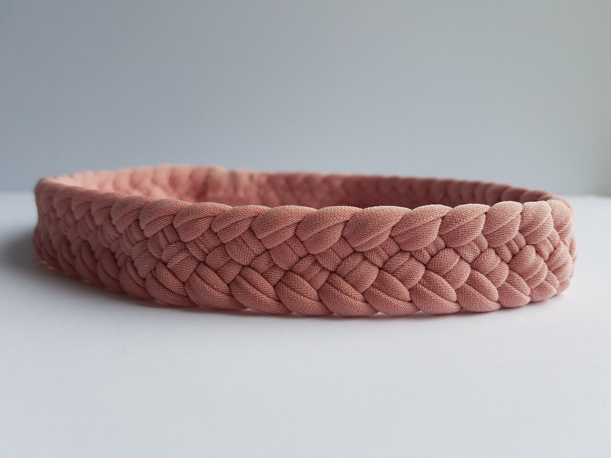 Weaved Headband in Blush | Boho Hairband | Nautically Inspired