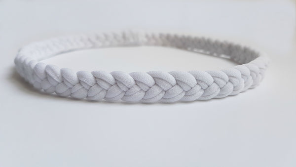 White Braided Workout Headband | Nautically Inspired