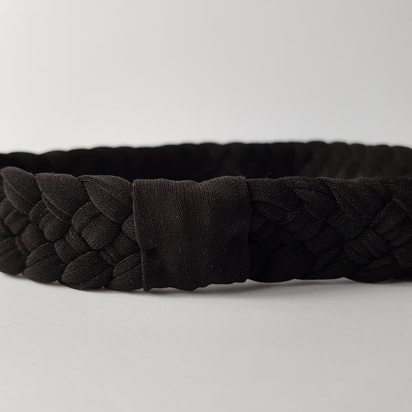Black Weaved Fashion Headband | Nautically Inspired