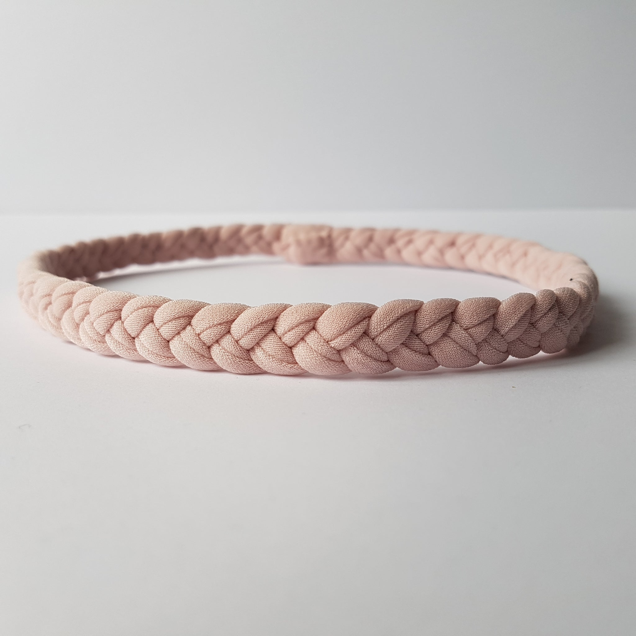 Women's Braided Workout Headband in Blush by Nautically Inspired