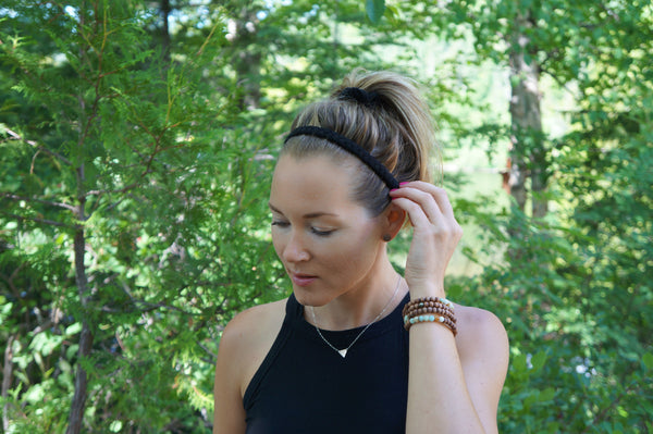 Buy Braided Headbands for Women in Black | Nautically Inspired