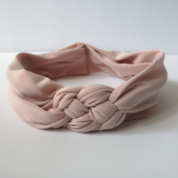 Blush Turban Knot Headband | Nautically Inspired