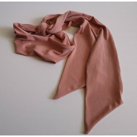 Long Headband Hair Scarf in Blush Tan