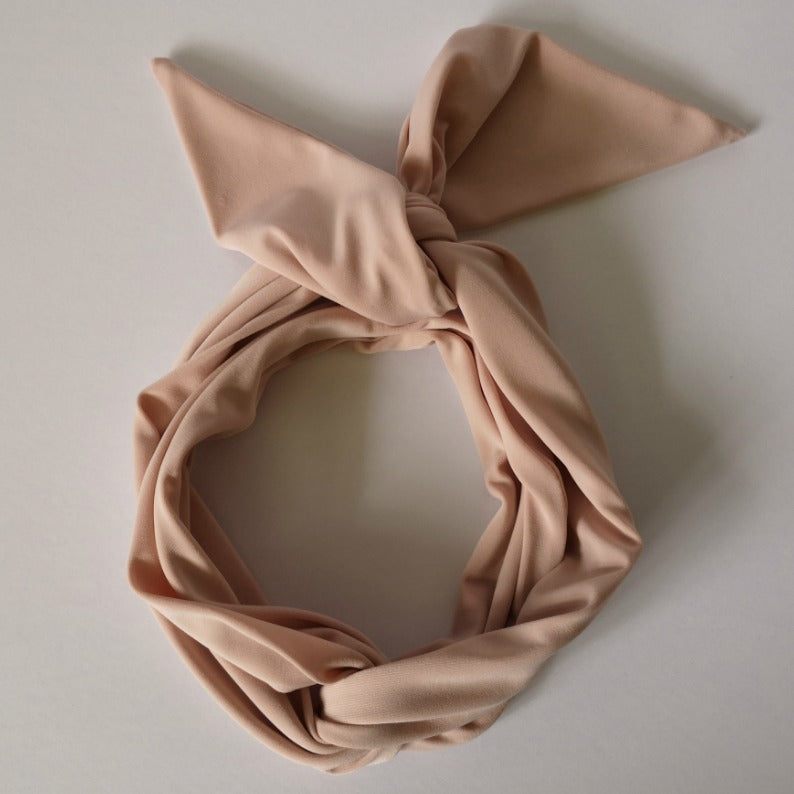 Long Headband Hair Scarf in Blush