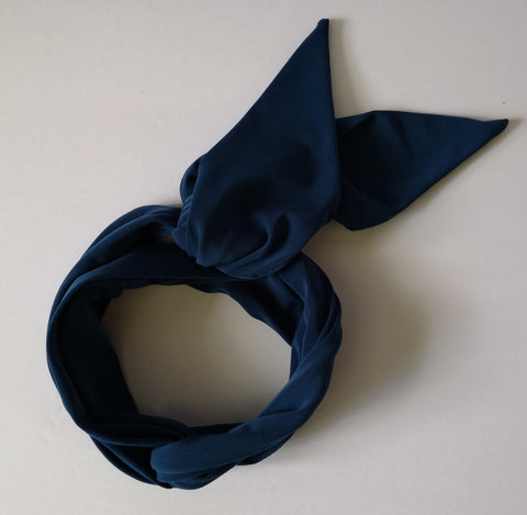 Long Headband Hair Scarf in Slate Blue