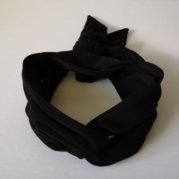 Long Headband Hair Scarf in Black