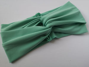 Twist Turban Headband in Mint