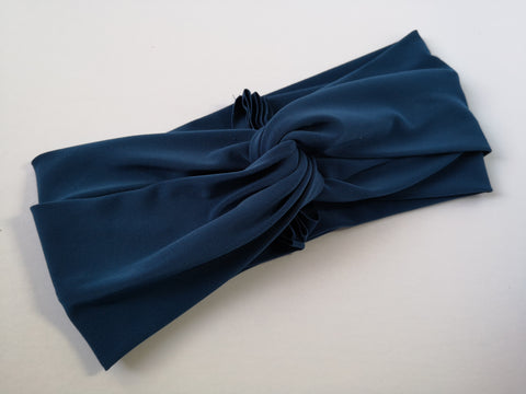 Twist Turban Headband in Slate Blue