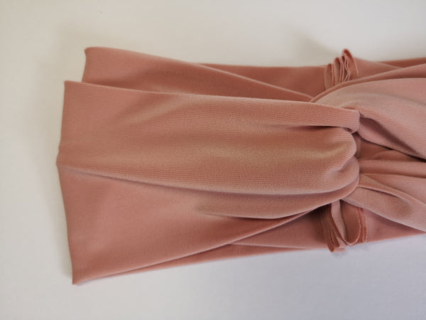 Twist Turban Headband in Blush Tan