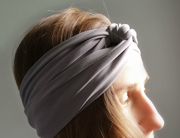 Twist Turban Headband in Black
