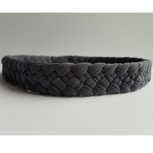 Weaved Headband in Slate Grey